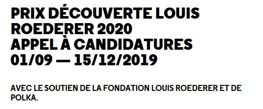 Prix Découverte Louis Roederer 2020